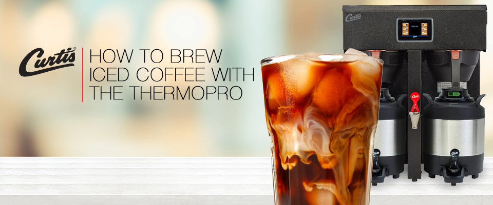 brew iced coffee with a thermopro