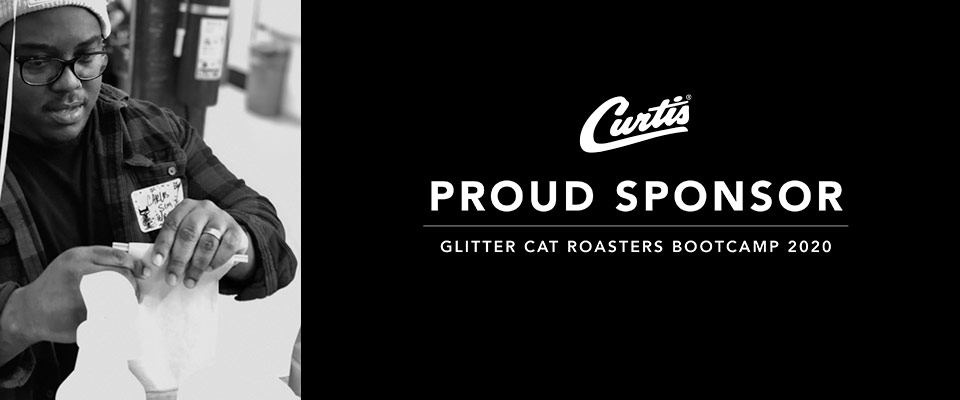 Carlos at the Glitter Cat Roasters Bootcamp sponsored by Curtis Commercial Brewing Systems